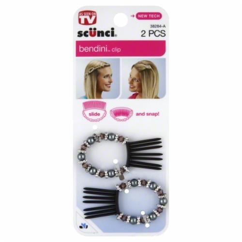 Scunci Beaded Bendini Snap Comb Perspective: front
