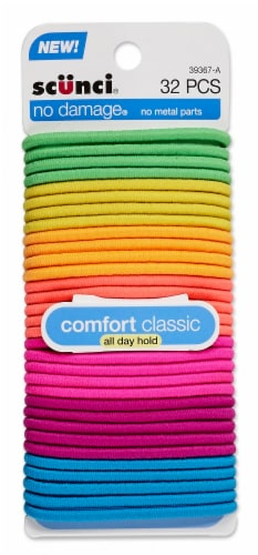 Scunci No Damage Comfort Classic All Day Hold Elastics Perspective: front