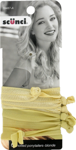 Scunci Blonde Knotted Ponytailers Perspective: front