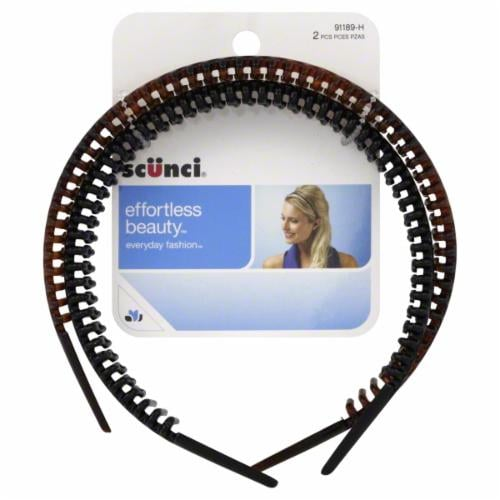 Scunci Effortless Beauty Everyday Fashion Comb Headbands Perspective: front