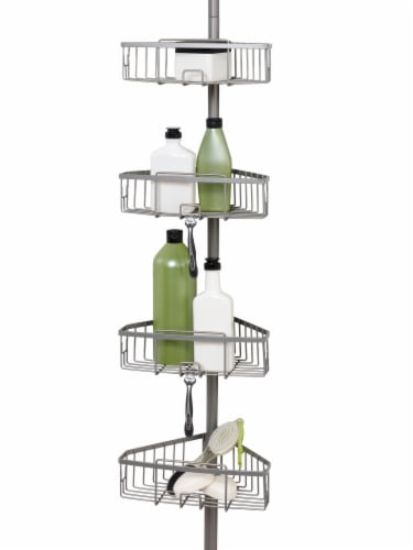 Zenna Home 4-Tier Pole Caddy Perspective: front