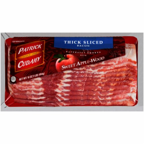 Patrick Cudahy Thick Sliced Sweet Apple-Wood Bacon Perspective: front