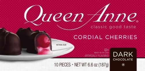 Queen Anne Dark Chocolate Cordial Cherries Perspective: front