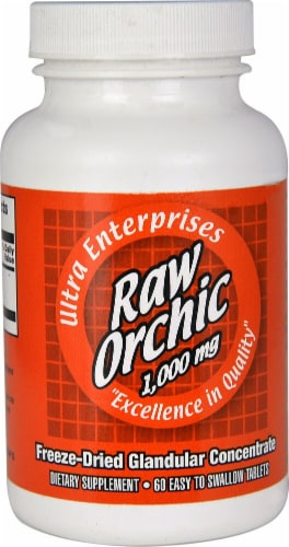 Ultra Glandulars Raw Orchic 1000 mg Capsules Perspective: front