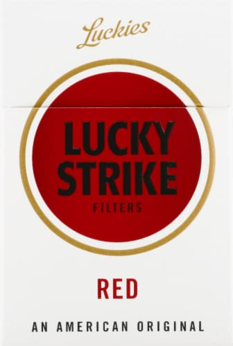 Lucky Strike Filters Red Cigarettes Perspective: front