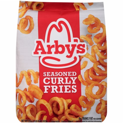 Arby's Seasoned Curly Fries Perspective: front