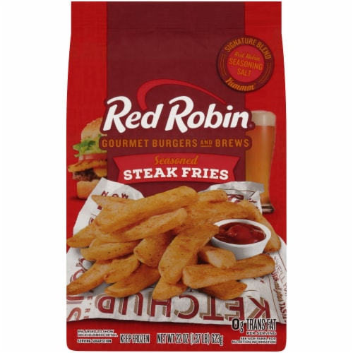 Red Robin Seasoned Steak Fries Perspective: front