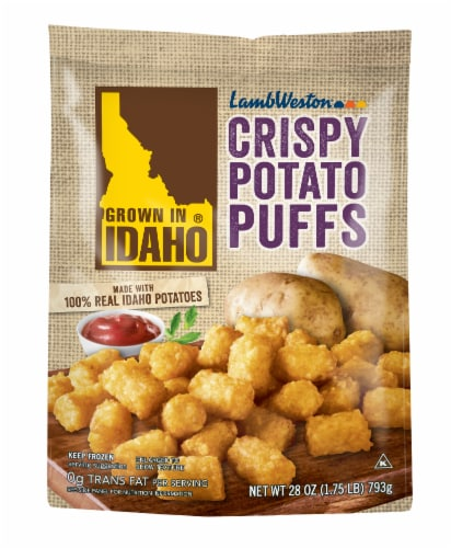 Grown In Idaho Crispy Potato Puffs Perspective: front