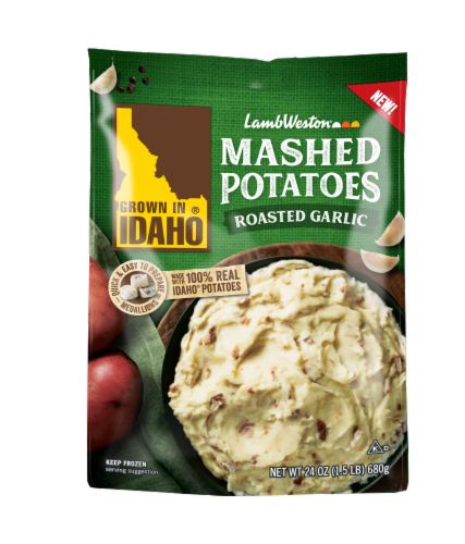 Grown In Idaho Roasted Garlic Frozen Mashed Potatoes Perspective: front