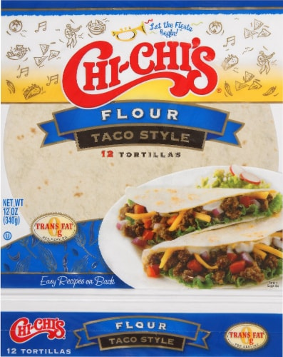 Chi-Chi's Flour Taco Style Soft Tortillas Perspective: front