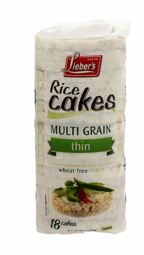Lieber's Thin Multigrain Rice Cakes Perspective: front