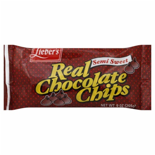 Leibers Real Chocolate Chips Perspective: front