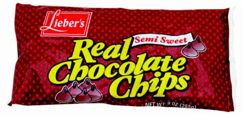 Lieber's Real Semi-Sweet Chocolate Chips Perspective: front