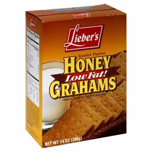 Lieber's Low Fat Honey Grahams Perspective: front