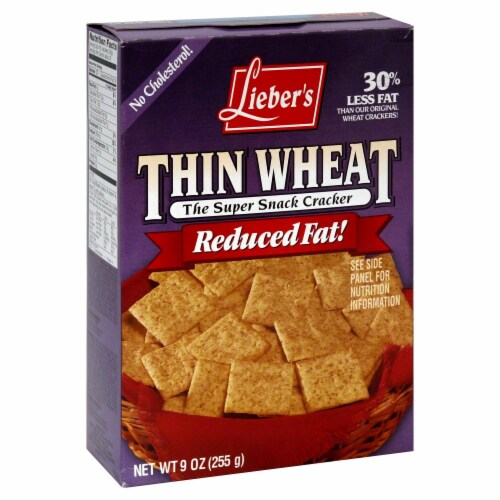 Lieber's Thin Wheat Reduced Fat Snack Crackers Perspective: front