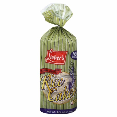 Lieber's Sesame Unsalted Rice Cakes Perspective: front