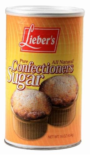 Lieber's Confection Sugar Perspective: front