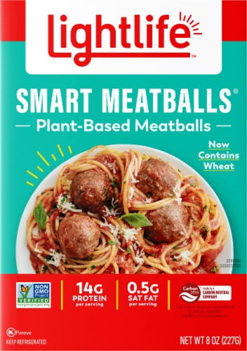Lightlife Smart Menu Meatless Veggie Meatballs Perspective: front