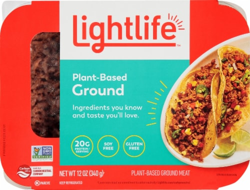 Lightlife Plant Based Ground Beef Perspective: front