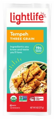 Lightlife Organic Three Grain Tempeh Perspective: front