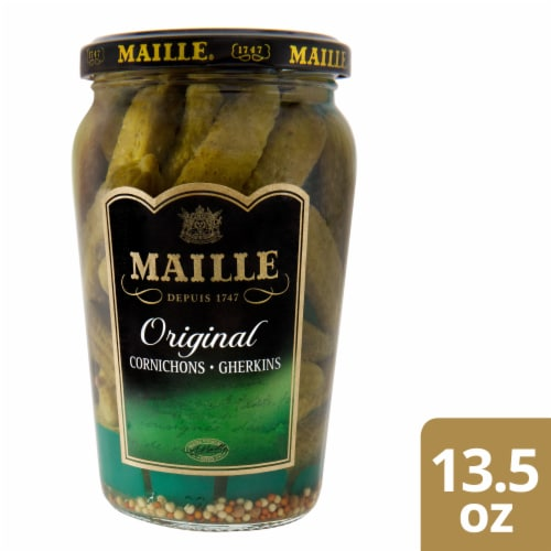 Maille Cornichons Extra Fine Gherkins Perspective: front