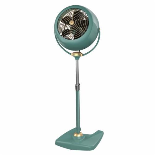 Vornado VFAN Sr. Vintage Pedestal Fan - Green Perspective: front