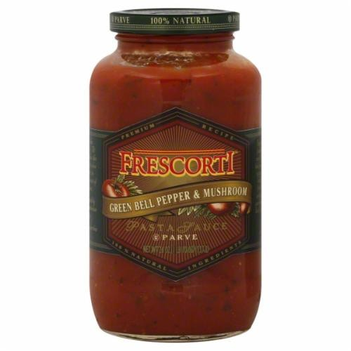 Frescorti Green Bell Pepper & Mushroom Pasta Sauce Perspective: front