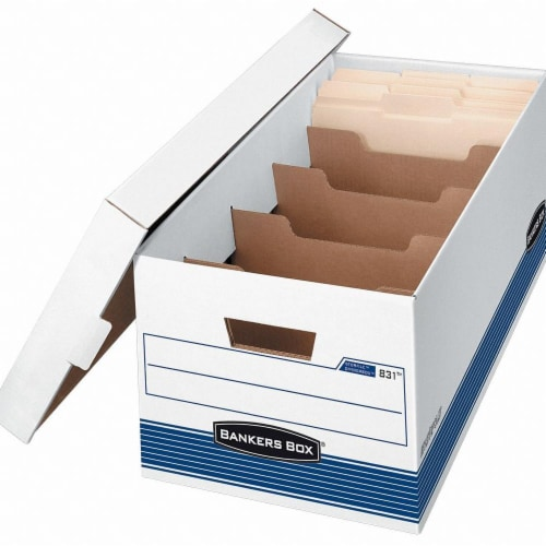 Bankers Box File,Box,Lettr Dividr,Wht 0083101 Perspective: front