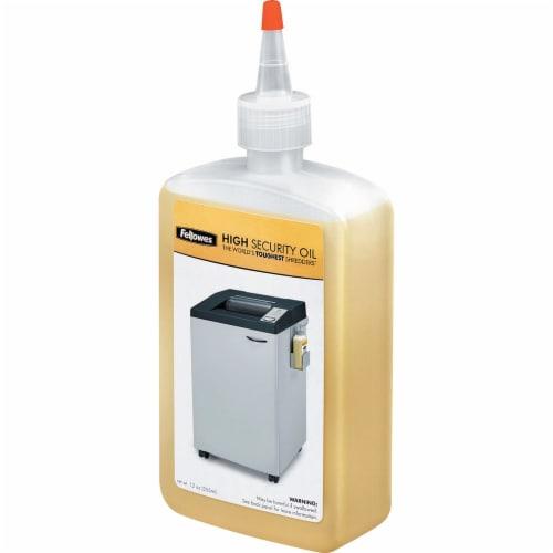 Fellowes Powershred® High Security Shredder Oil 12 Oz. Bottle - 12 oz Perspective: front