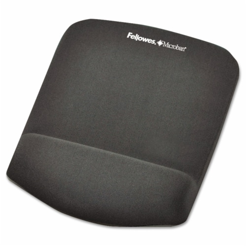 Fellowes Mousepad w/Wrist Support,Graphite  9252201 Perspective: front