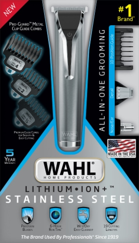 Wahl Stainless Steel All-In-One Grooming Razor Perspective: front