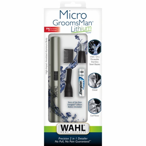 Wahl Micro GroomsMan Lithium Power Personal Trimmer Perspective: front