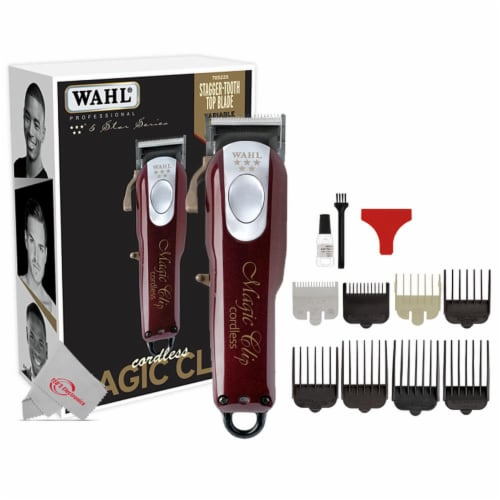 Wahl Professional 5-star Cord/cordless Stagger-tooth Crunch Blade Clipper Perspective: front