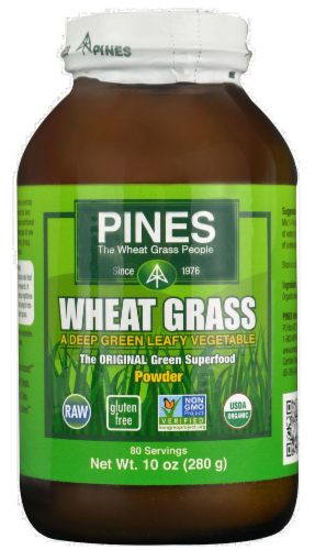 Pines Organic Wheat Grass Powder Perspective: front