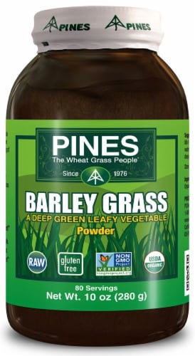 Pines International  Organic Barley Grass Powder Perspective: front