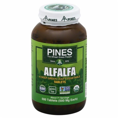 Pines Alfalfa Tablets Perspective: front
