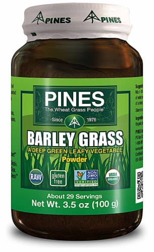 Pines International  Organic Wheat Grass Powder Perspective: front