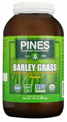 Pines Organic Barley Grass Powder Perspective: front