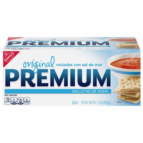 Premium Original Sea Salt Saltine Crackers Perspective: front