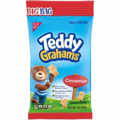 Teddy Grahams Cinnamon Graham Snacks Big Bag Perspective: front