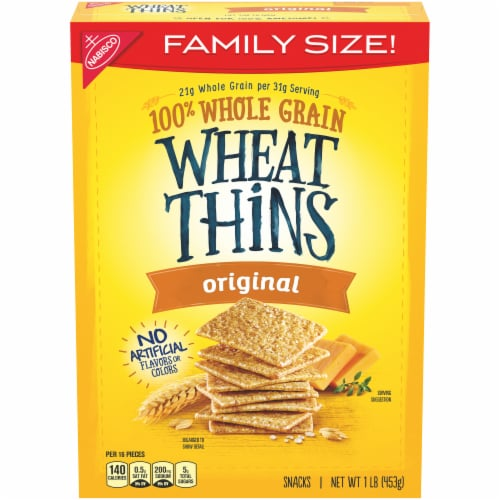 Wheat Thins Original Crackers Family Size Perspective: front