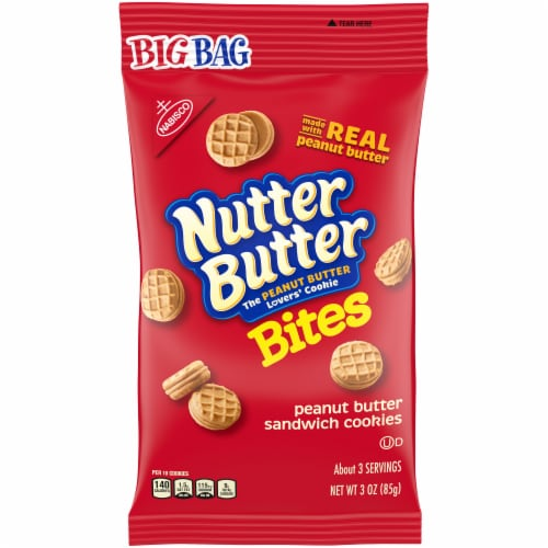 Nutter Butter Bites Peanut Butter Sandwich Cookies Perspective: front