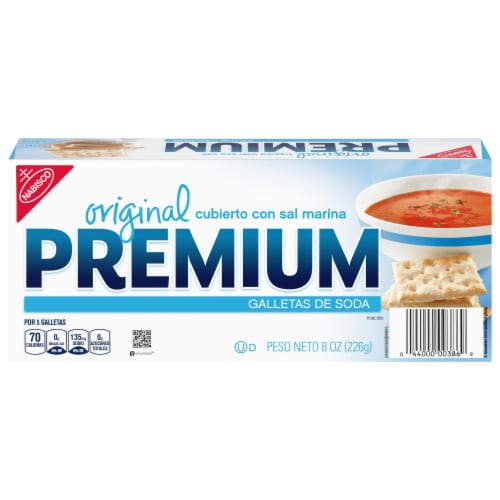 Premium Original Saltine Crackers With Sea Salt Perspective: front