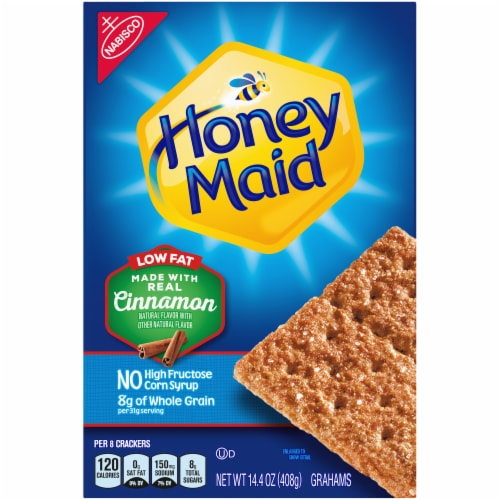 Honey Maid Low Fat Cinnamon Graham Crackers Perspective: front