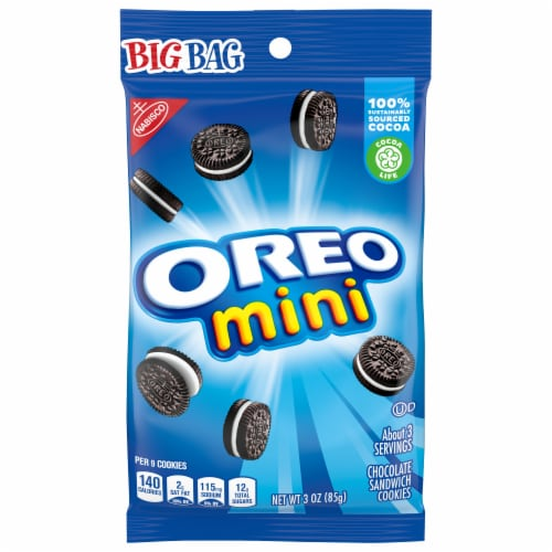 Oreo Mini Bite Size Cookies Big Bag Perspective: front