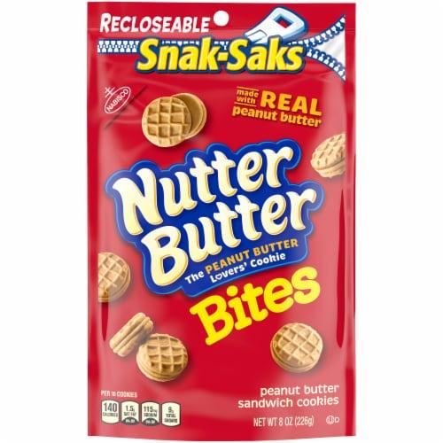 Nutter Butter Bites Peanut Butter Sandwich Cookies Snak-Pak Perspective: front