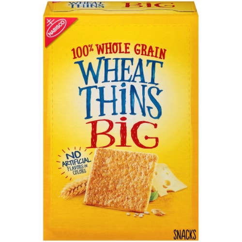 Wheat Thins Big Original Crackers Perspective: front