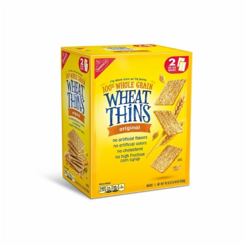 Nabisco Wheat Thins Original Crackers (20 Ounce bags, 2 Count) Perspective: front