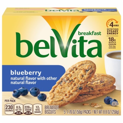 belVita Blueberry Breakfast Biscuits Perspective: front