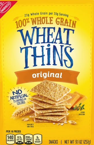 Wheat Thins Original Crackers Perspective: front